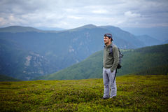 Caucasian hiker Royalty Free Stock Photography