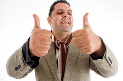 Caucasian with his thumbs up Stock Image