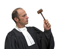 Caucasian judge Stock Images