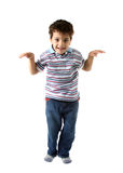 Caucasian kid looking to you with happy smile Stock Photography