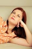 caucasian kvinna Fotografering för Bildbyråer