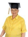 caucasian kvinnligavläggande av examen Arkivfoto