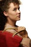 caucasian kvinnligshopping Royaltyfri Fotografi