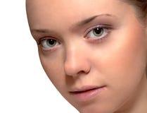 caucasian kvinnligståendebarn Arkivfoton