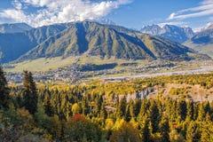 Caucasian landscape, Upper Svaneti, Georgia royalty free stock photo