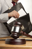 Caucasian lawyer in court Stock Images