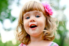 Caucasian little girl portrait Stock Image