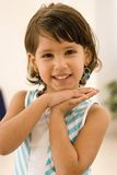 Caucasian little girl smiling Stock Photography