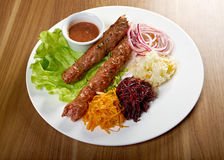 Caucasian Luleh kebab Stock Photo
