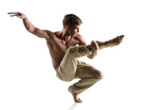 Caucasian male dancer Stock Photography