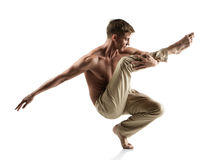 Caucasian male dancer Royalty Free Stock Images