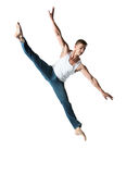 Caucasian male dancer Stock Photo