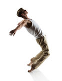 Caucasian male dancer Stock Images