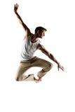 Caucasian male dancer Stock Images