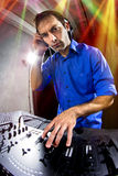 Caucasian Male DJ Royalty Free Stock Photo