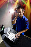 Caucasian Male DJ Royalty Free Stock Photography