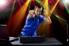 Caucasian Male DJ Stock Image