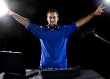 Caucasian Male DJ Royalty Free Stock Image