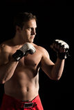 Caucasian male fighter Stock Photo