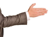 Caucasian male hand in a business suit Royalty Free Stock Photos