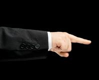 Caucasian male hand in a business suit isolated Stock Images