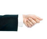 Caucasian male hand composition isolated Royalty Free Stock Image
