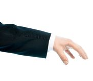 Caucasian male hand composition isolated Royalty Free Stock Photography