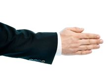 Caucasian male hand composition isolated Royalty Free Stock Photo
