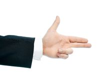 Caucasian male hand composition isolated Stock Photos
