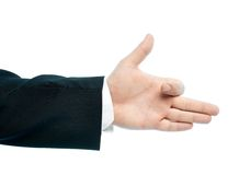Caucasian male hand composition isolated Royalty Free Stock Photos