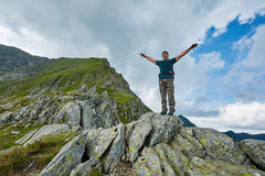 Caucasian male hiker Royalty Free Stock Photos