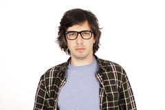 Four Eyes 30's Guy Royalty Free Stock Images