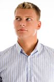Caucasian male looking up Royalty Free Stock Photography