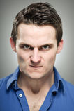 Caucasian Man Anger Expression Portrait Royalty Free Stock Photography