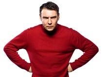Caucasian man attitude Stock Image