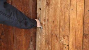 Old Wooden Door Opening And Closing Stock Video Video Of Open