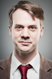Caucasian Man Blank Expression Portrtait Stock Photo