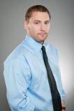 Caucasian Man Blank Expression Portrtait Stock Photos