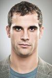 Caucasian Man Blank Expression Portrtait Stock Image