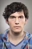Caucasian Man Blank Expression Profile Portrtait Stock Photo