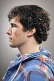 Caucasian Man Blank Expression Profile Portrtait Stock Image