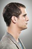 Caucasian Man Blank Expression Profile Portrtait Stock Photography