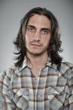 Caucasian Man Blank Expression Profile Portrtait Stock Images