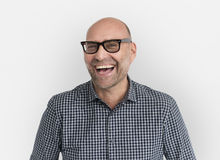 Caucasian Man Cheerful Happy Portrait. Caucasian Man Cheerful Happy Isolated Portrait royalty free stock photo