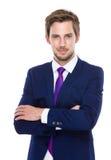Caucasian man crosshand Royalty Free Stock Image