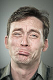 Caucasian Man Crying Portrait Stock Photos