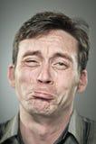Caucasian Man Crying Portrait Stock Photos