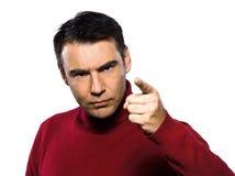 Caucasian man gesture Stock Image