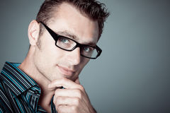 Caucasian man with glasses Royalty Free Stock Images