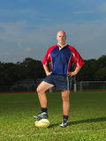 Caucasian Man with his Rugby Ball Royalty Free Stock Images